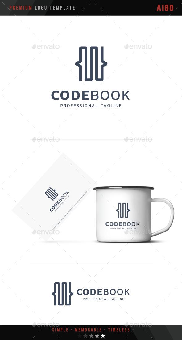 Code Book Logo - Symbols Logo Templates