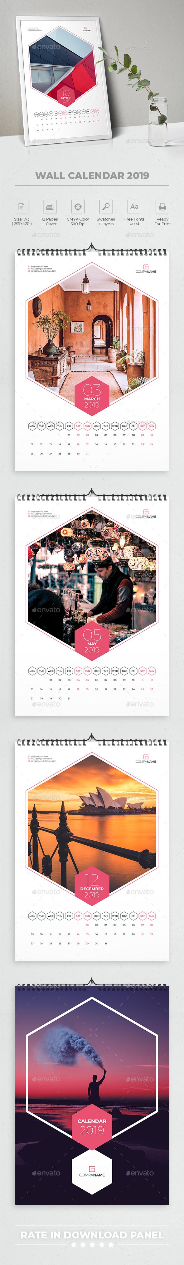 Creative Wall Calendar 2019 - Calendars Stationery