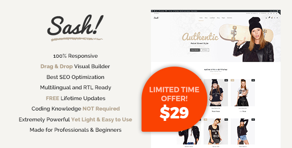 Sash - Fashion WooCommerce theme - WooCommerce eCommerce