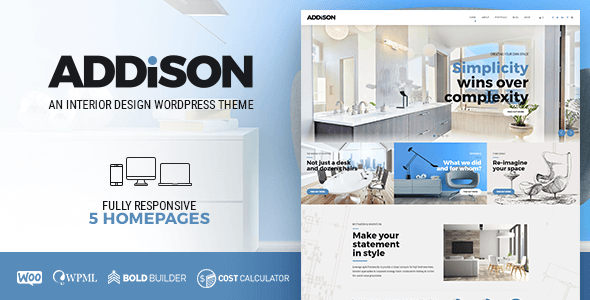 Addison - Architecture, Interior Design & Furniture - Portfolio Creative