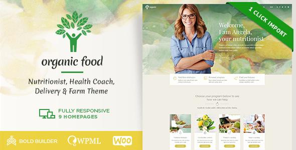 Organic Food - Nutritionist & Food WordPress Theme