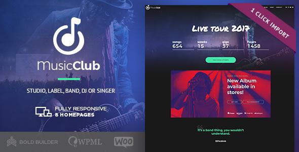 Music Club - Music, Band, Studio & DJ - Music and Bands Entertainment