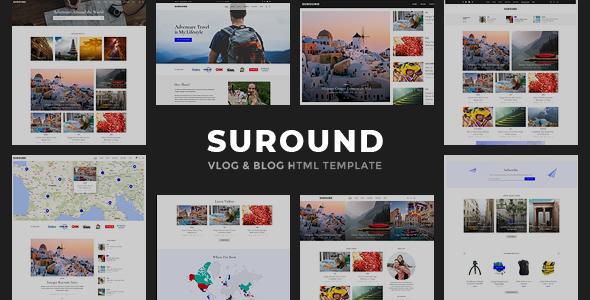 Wonderful Suround - Vlog & Blog HTML Template