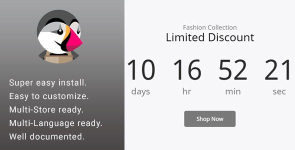 Promotion Discount Countdown Banner & Slider            Nulled