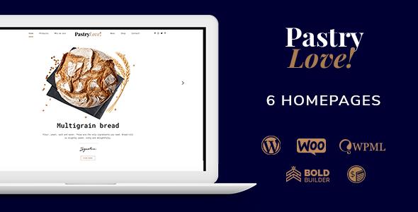 Pastry Love - Bakery & Cake Shop WordPress Theme