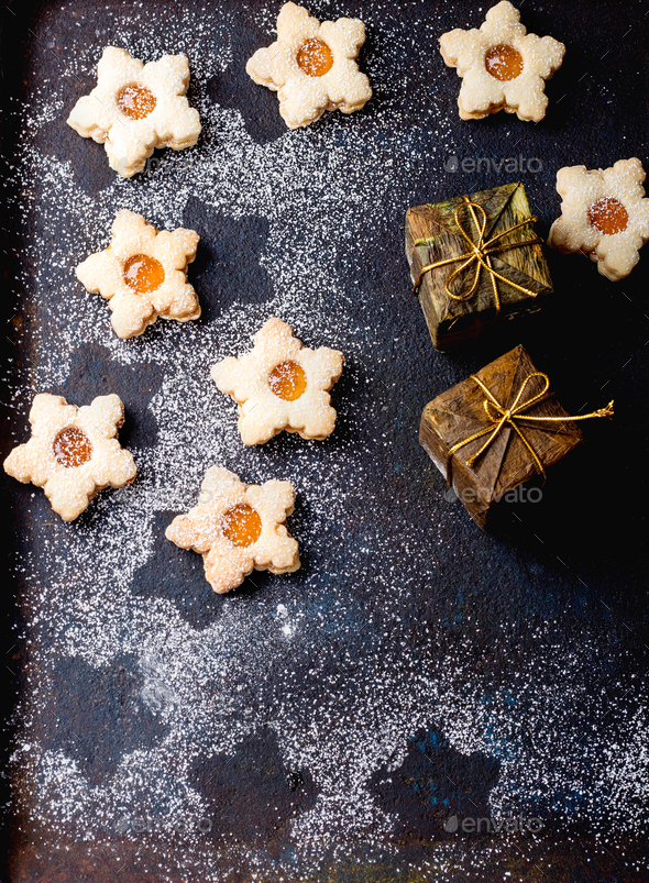 Home Made Christmas cookies - Stock Photo - Images