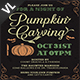 Pumpkin Carving Party Invitation / Flyer V03 - GraphicRiver Item for Sale