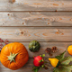 Thanksgiving flat lay with colorful pumpkins - PhotoDune Item for Sale