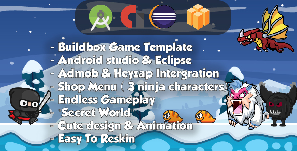 Ninja Adventure - Android Studio & Eclipse & Builbdox Game Template            Nulled