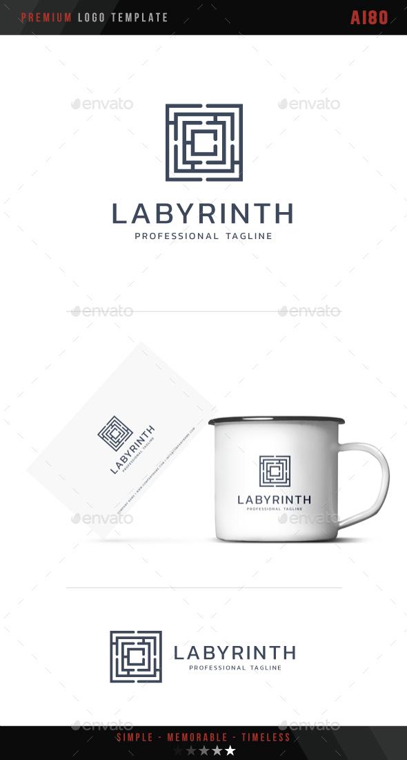 Labyrinth Logo - Symbols Logo Templates