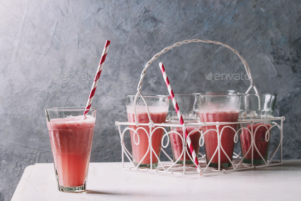 Red fruit cocktail - Stock Photo - Images