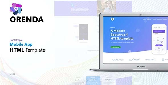 Orenda - App Landing Page - Apps Technology