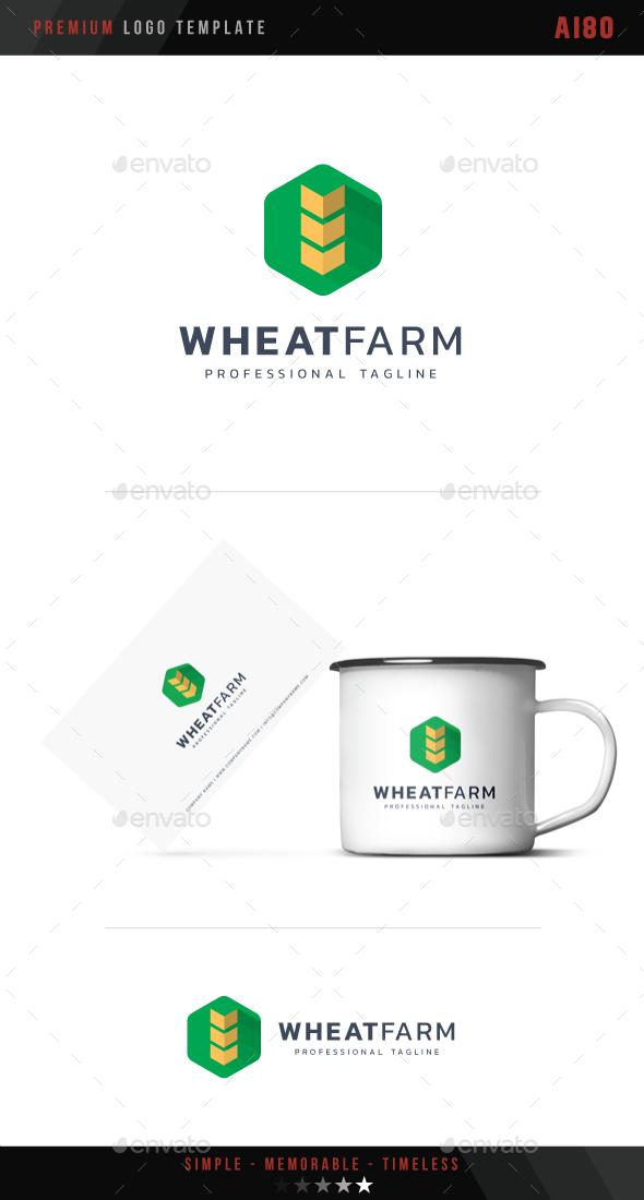 Wheat Farm Logo - Abstract Logo Templates