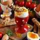 Soft-boiled egg with crisp bread - PhotoDune Item for Sale