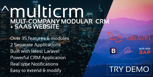 ^multicrm - Multi-Company Laravel CRM + Saas Website
