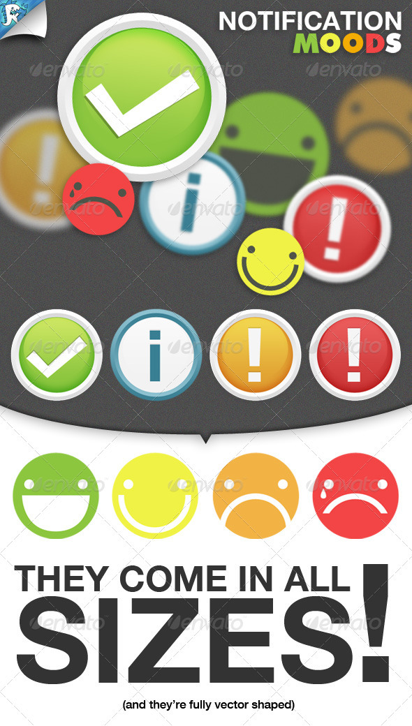 Notification Moods - Notifications and Smilies - Web Icons