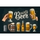 Two Hands Holding Beer - GraphicRiver Item for Sale