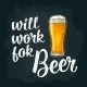 Will Work for Beer Handwriting - GraphicRiver Item for Sale