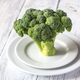 Fresh broccoli on the white plate - PhotoDune Item for Sale