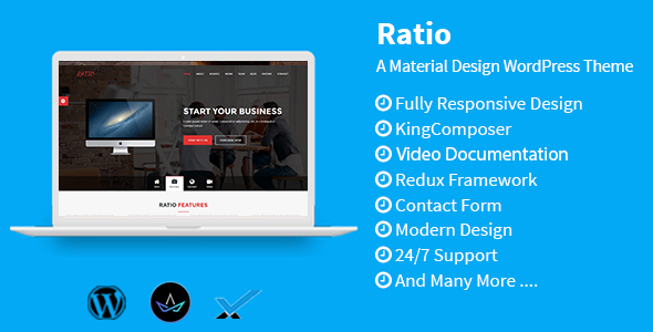 Ratio - Material Design WordPress Theme - Technology WordPress