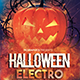 Halloween Electro Photoshop Flyer Template