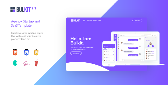Bulkit - Agency, Startup and SaaS template - Software Technology