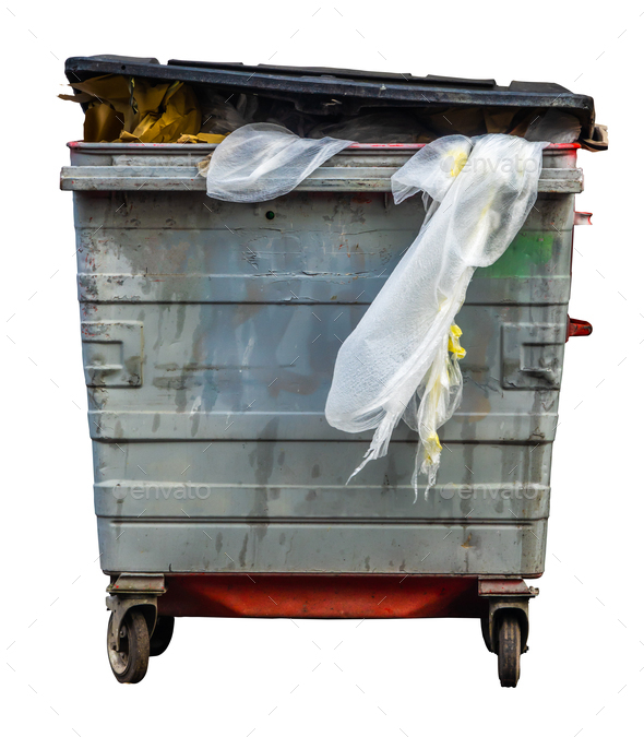 Isolated Trash Can Or Bin - Stock Photo - Images