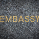 Gold Embassy Sign - PhotoDune Item for Sale