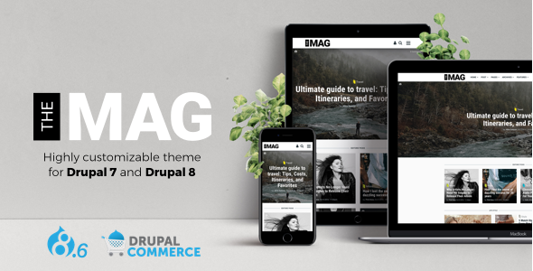 TheMAG - Highly Customizable Drupal 7 and Drupal 8 Blog and Magazine Theme - Blog / Magazine Drupal