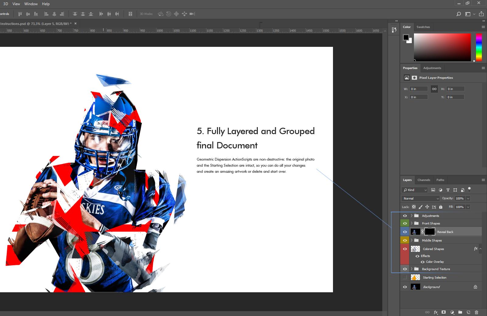 Geometrical Dispersion FX - Photoshop Add-On