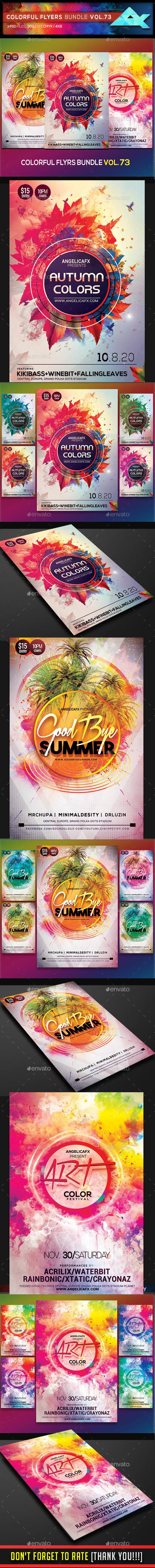 Colorful Flyers Bundle Vol. 73 - Clubs & Parties Events