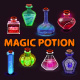 Bright Fantasy Glass Bottles