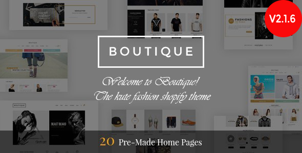 Boutique - Responsive Shopify Theme - Fashion Shopify