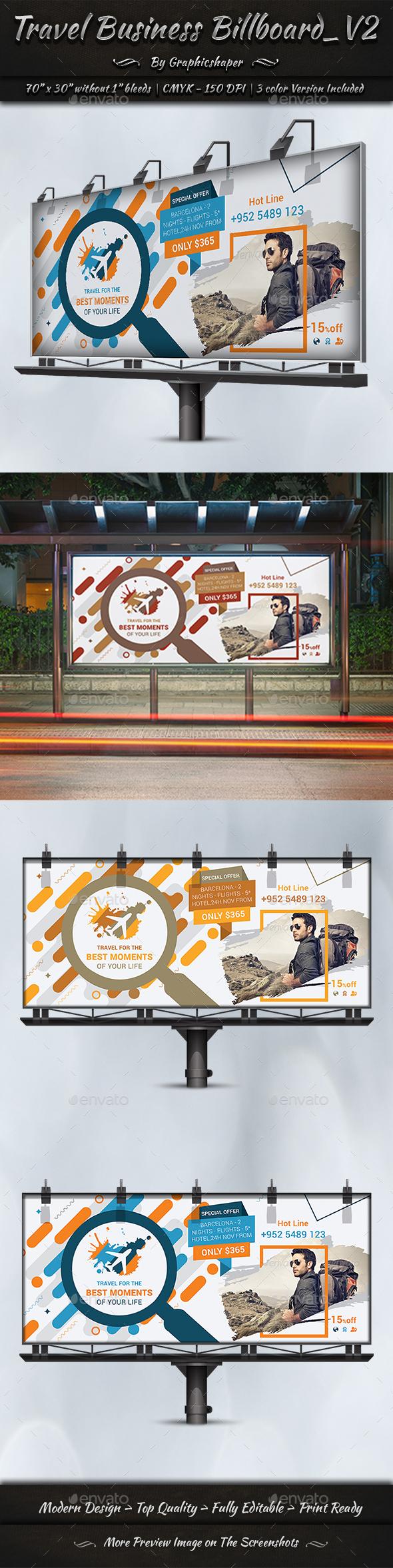 Travel Business Billboard | Volume 2 - Signage Print Templates