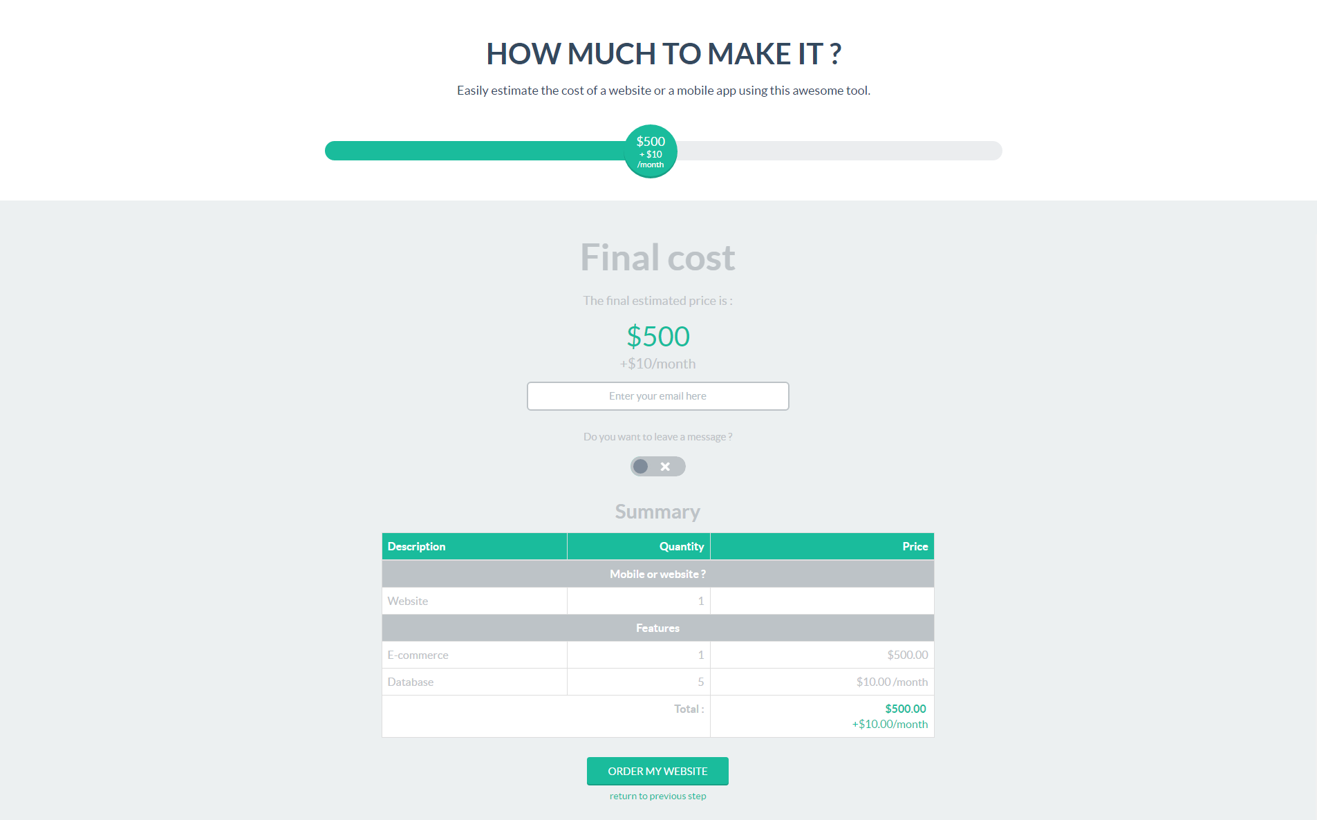 wp cost estimation payment forms builder by loopus codecanyon