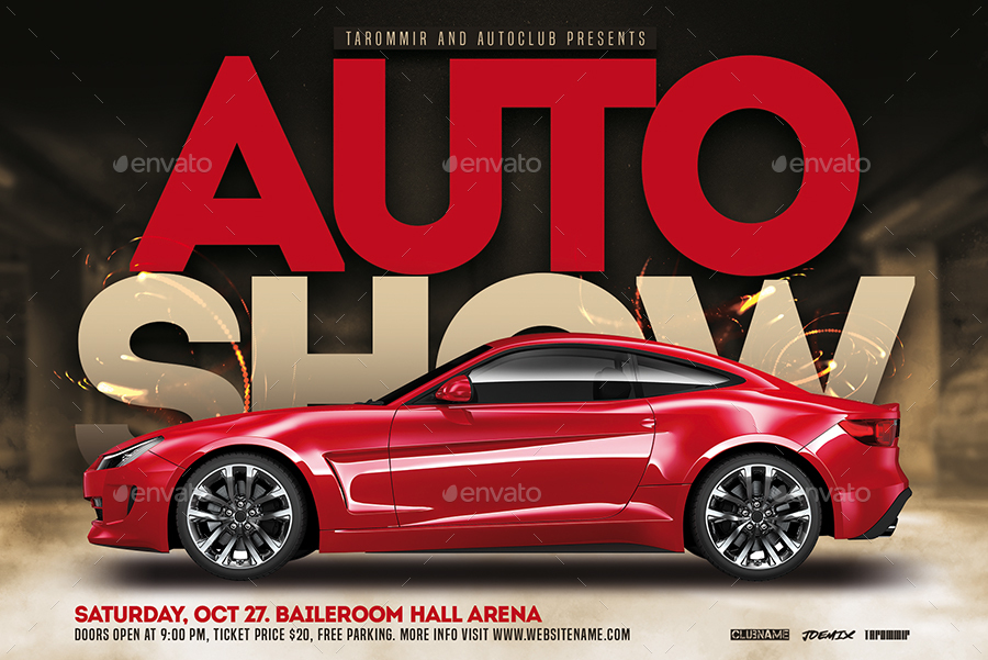 Auto Show Flyer By Tarommir GraphicRiver - Auto show tickets price