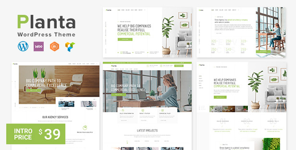 Planta | A Contemporary Business WordPress Theme - Business Corporate