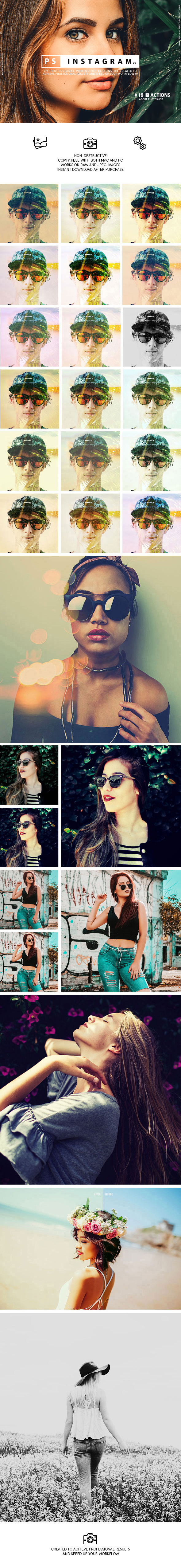 Instagram V2 Presets - Photo Effects Actions