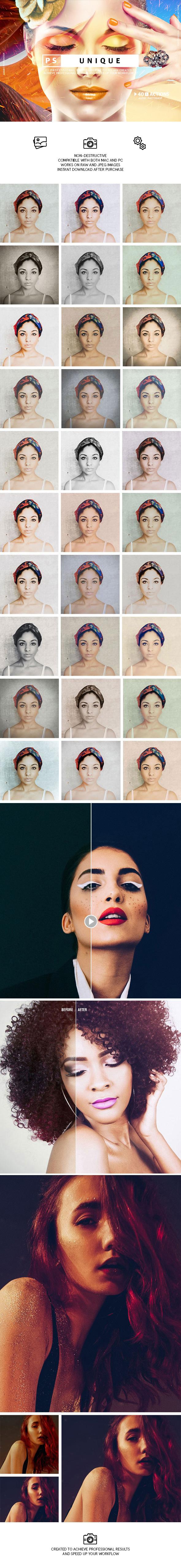 Uniqu Photoshop Actions - Photo Effects Actions