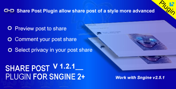 Share Post For Sngine 2+ - CodeCanyon Item for Sale
