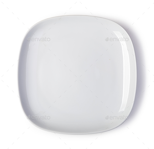 white plate - Stock Photo - Images