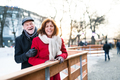 Senior couple on a walk in a city in winter. - PhotoDune Item for Sale