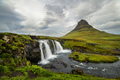 Kirkjufell waterfall and mountain, an Iceland landscape. - PhotoDune Item for Sale