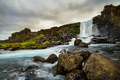 A waterfall in a beautiful Iceland landscape. - PhotoDune Item for Sale