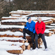 Senior couple runners resting in winter nature. - PhotoDune Item for Sale