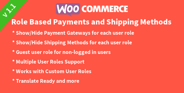 WooCommerce Role based Payments and Shipping Methods - CodeCanyon Item for Sale