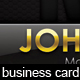 Black And Gold Exclusive Business Card - GraphicRiver Item for Sale