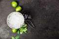 Metal ice bucket and mojito ingredients - PhotoDune Item for Sale