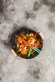 Stir fry with prawns, vegetables, soy sause and sesame - PhotoDune Item for Sale