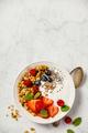 Bowl of homemade granola with yogurt and fresh berries - PhotoDune Item for Sale